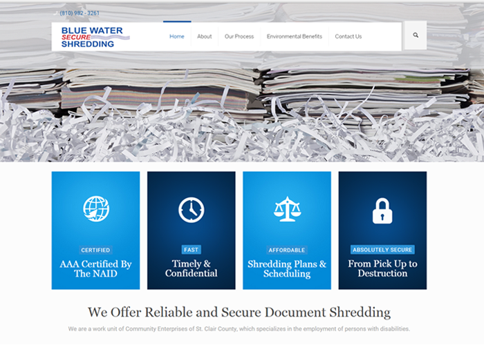 Blue Water Secure Shredding screenshot